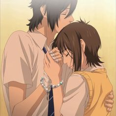 "Yamato & Mei from Say ""I love you"" omg this is such a good anime show"