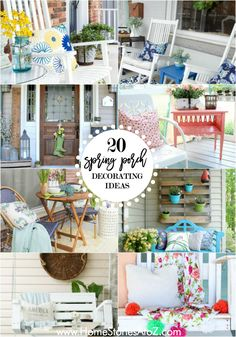 20 Beautiful Spring Porch and Patio Ideas 20 Beautiful Spring Porch Decorating Ideas Outdoor Rooms, Outdoor Decor, Outdoor Living, Outdoor Furniture, Romantic Backyard, Porch Decorating, Decorating Ideas, Building A Porch, House With Porch