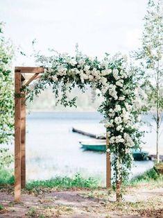 Pinterest Wedding Arch Rustic, Wedding Ceremony Arch, Outdoor Ceremony, Rustic Weddings, Unique Weddings, Arch Ways For Weddings, Wedding Arch Greenery, Diy Wedding Arbor, Outdoor Wedding Flowers