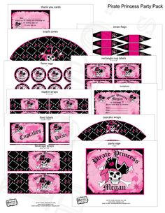 Pirate Princess  Party Package by MetroEvents on Etsy, $18.98