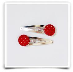 Barrettes en méral gris avec boutons rivetés (différents coloris)Retrait sans frais : Entrez le code ATELIER à la fin de votre commande
