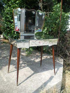 Tres Chic Coiffeuse Miroir ART Deco Epoque 1950 Meuble Deco | eBay 490€