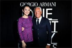 Ziyi Zhang e Giorgio Armani - armani one night only