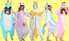 Online Shop New Fashion 3D Cartoon Unisex Fleece adult Unicorn pink/blue yellow Onesie pajamas halloween christmas party costumes|Aliexpress Mobile