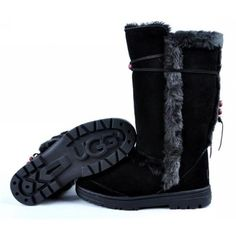 UGG 5359 Nightfall Tall Boots Black-Women