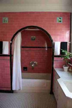 Pink bathroom! Oh my goodness!!!!