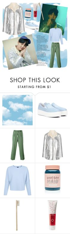 """""""Yoongi Spring Day"""" by arianmiliana ❤ liked on Polyvore featuring Kenzo, Walter Van Beirendonck, Opening Ceremony, Lime Crime and HAY"""