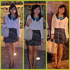Top-forever 21,Skirt-forever 21,bag-Louis vuitton,Shoes-forver 21,accessories-sm accessories
