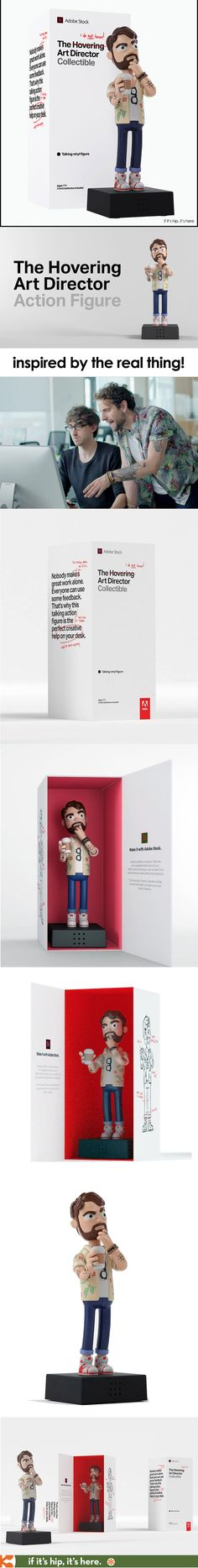 """Not only is this 7"""" vinyl Hovering Art Director Action Figure hilarious, but its packaging is just as fun. Learn how to win one of your own! http://www.ifitshipitshere.com/hovering-art-direction-action-figure/"""