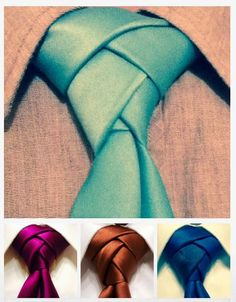 Easy Homesteading: How To Tie a Eldredge Knot Necktie, the classiest of all the knots! Eldredge Knot, Diy Accessoires, Diy Couture, Tie Knots, Looks Cool, Mode Inspiration, Good To Know, Diy Tutorial, Just In Case
