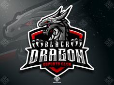 (FOR SALE) Dragon (Black Version) eSports Mascot Logo designed by Erde Graphic Design. Gaming Logo, Logo Dragon, Youtube Logo, Game Logo Design, Esports Logo, Mascot Design, Black Dragon, Logo Google, Animal Logo