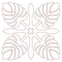 Hawaiian Quilt Blocks 2 (4x4)