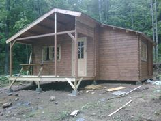 Leisure cabins are the ultimate cabins for the cottage industry Log Cabin Kits - build a cabin a day for under $10,000