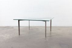 KNOLL STYLE GLASS AND CHROME COFFEE TABLE Animal Print Shop, Chrome, Coffee, Glass, Modern, Table, House, Furniture, Home Decor