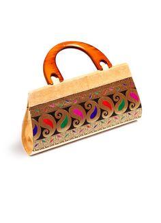 Zari Brocade Party Clutch Bag,Shop online at http://www.ethnicdukaan.com/zari-brocade-party-clutch-bag-h0201001