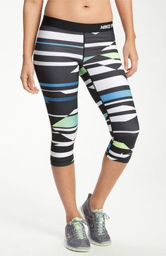 LOVE Nike Pro Combat leggings and these are the cutest!