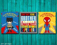 Superhero Room Decor. Superhero Wall Art. by LittleLifeDesigns