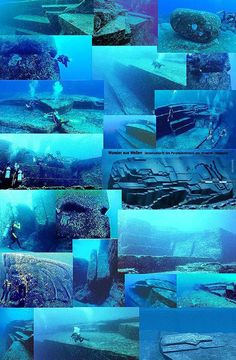 The Yonaguni Monument // underwater rock formation off the coast of Yonaguni, Japan