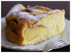 It's apple season! Haven't tried this yet, but I think I'll make it this weekend. Just not with Golden Delicious. Italian Apple Cake, a recipe on Easy Apple Cake, Fresh Apple Cake, Apple Cake Recipes, Apple Pie, Cookie Recipes, Mini Cakes, Cupcake Cakes, Jewish Apple Cakes, Patisserie Sans Gluten