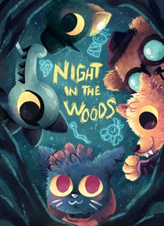 Night in the Woods by Agui-chan on DeviantArt Mae Borowski, Wood Games, Night In The Wood, Wood Wallpaper, Fan Art, The Villain, Pretty Art, Furry Art, Wood Art