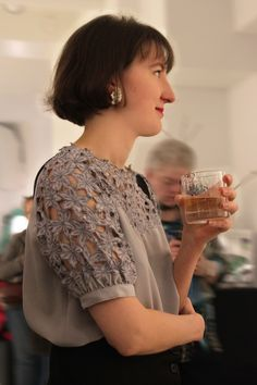 Artist-designer Ella Varvio: Nemeton glass art exhibition opening party. The exhibition's name Nemeton means a sacred place in a Celtic religion. Theme of the exhibition is a mystical forest and Varvio interprets the theme with her illustrations in the glass. Galleria Mafka&Alakoski, spring 2017.