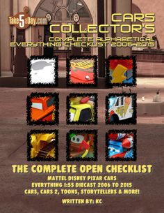 The Complete Everything CARS Open Checklist 2006-2015 (Preview & Video Preview)
