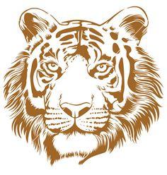 tiger-stencil-vector-1711169.jpg (380×400)