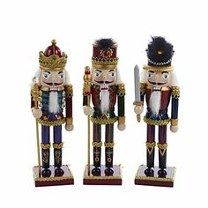 Kurt Adler 10Inch Wooden Nutcracker with Striped Pants Assortment of 3 Styles Case of 4 ** Read more reviews of the product by visiting the link on the image.