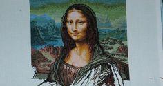 Gobelin Mona Lisa in progress