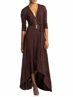 I like the peek of leg with the feel of a maxi-dress. Flattering for many body types and can wear through many seasons. Pretty good for $89.