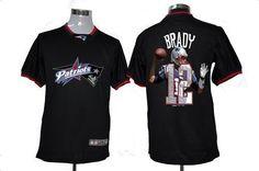 bf4473b54 Nike Patriots  12 Tom Brady Black Men s NFL Game All Star Fashion Jersey  New England
