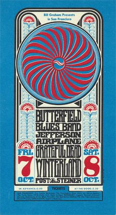Butterfield Blues Band Fillmore Poster BG30