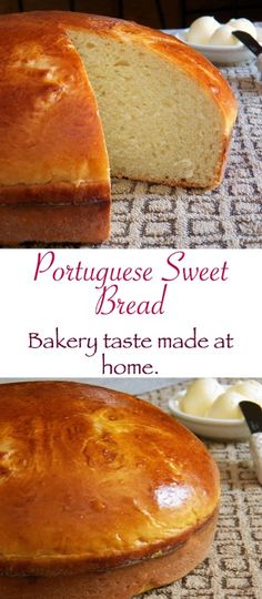 SWEET BREAD Portuguese Sweet Bread-slightly sweet and so delicious.Portuguese Sweet Bread-slightly sweet and so delicious. Portuguese Sweet Bread, Portuguese Desserts, Portuguese Recipes, Portuguese Food, Cooking Bread, Bread Baking, Cooking Oil, Cooking Bacon, Bread Recipes