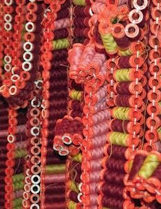 detail preview of an awesome whopping work of art installation by the Italian Artists Damss Fiberart