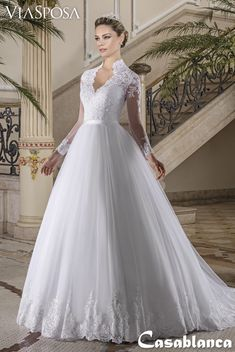 Via Sposa 2018 Casablanca Collection – — Wedding – New Wedding Dresses – 2019 Evening Dresses – 2019 Bindal Kaftan Models Country Wedding Dresses, Wedding Dress Sleeves, Princess Wedding Dresses, Elegant Wedding Dress, Modest Wedding Dresses, Bridal Dresses, Cinderella Wedding, Blush Dresses, Lace Sleeves