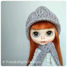 Blythe Chunky hat #Blythe #BlytheCon #customblythe #artdoll #doll #etsy https://www.etsy.com/listing/290354623/blythe-hat-chunky-cap-ooak-handmade