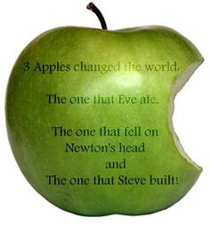 Apples changed the world