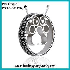 Dare to light up your look with a little added bling! In this dazzling coordinated fashion statement, our Paw Blinger pendant is an enhancer that accentuates and magnifies the beauty of Peek-A-Boo Paws Slide charm. Paw Blinger charm worn with Peek-A-Boo Paws dresses up both accessories for a sophisticated and fun style.