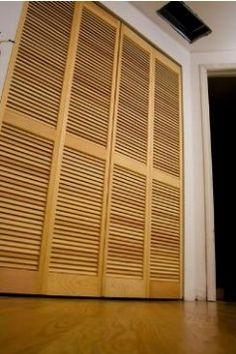 Двери жалюзи деревянные