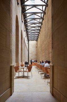Frank Gehry restores entrance and corridor at Philadelphia Museum of Art – Corridor 2020 Study Architecture, Chinese Architecture, Modern Architecture House, Futuristic Architecture, Modern Houses, Museum Architecture, Frank Gehry, Guggenheim Museum Bilbao, Zaha Hadid Architects