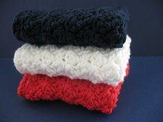 Textured Crochet Washcloths $9