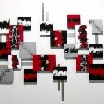 Decorating Walls with Shades of Red-Black Abstract 2