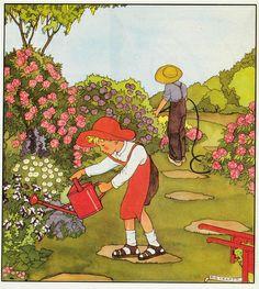 Rie Cramer Het jaar rond editie 1978 ill  de tuinman .                                            lb xxx.