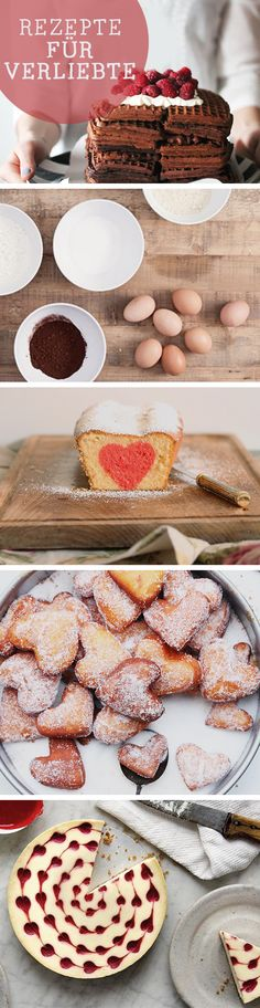 Kostenlose Valentinsrezepte: Leckere Backideen für Verliebte / free sweet recipes for valentine's day, love via DaWanda.com