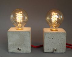 Nomad: concrete lamp. Table lamp. Table lamp.  without bulb