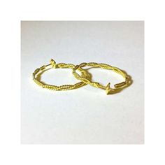 Nautical Gold Bracelet Hand Woven via Polyvore featuring jewelry