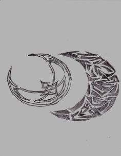 8a5b58bb4ffd6 Celtic Owl And Moon Tattoo Designs | Tattoobite.com Tribal Moon Tattoo, Tribal  Tattoos