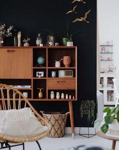 my scandinavian home: Anne's Enchanting Family Home in Lille, France Living Room Inspiration, Interior Inspiration, Home And Living, Home And Family, Bamboo Pendant Light, Dark Walls, Interior Decorating, Interior Design, Home And Deco