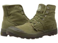 Palladium Pallabrouse Men's Lace-up Boots Dark Olive/Dark Gum