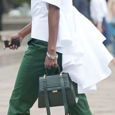 Green with envy. ...for this mini tote. (Couldn't help ourselves.)